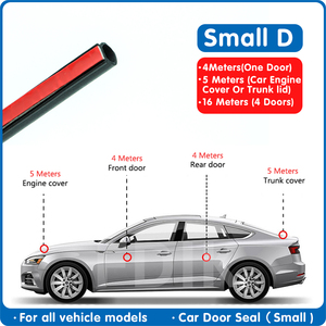 Car Door seal 4Meter small D r