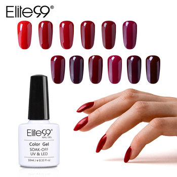 Elite99 10ml Wein Rote Farbe UV Gel Nagellack Reine Gel Lacke Nagel Gel Primer Langlebige Soak off UV Gel Nail art Maniküre