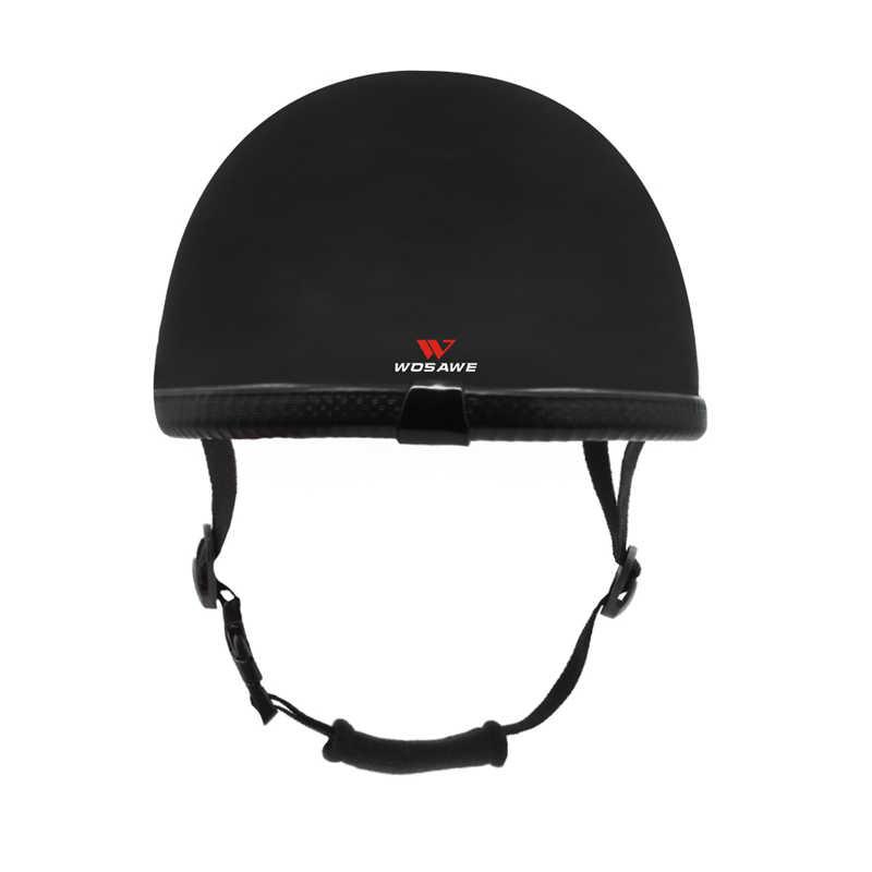 WOSAWE רכיבה על חצי קסדת מגן Earmuff אוזן הגנת קסדת קטנוע באיכות גבוהה בציר רטרו בציר Motobike חצי קסדה