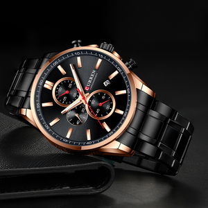 Image 2 - 2019 新CURRENトップブランドの高級メンズ腕時計自動日付時計男性スポーツ鋼腕時計メンズクォーツ腕時計レロジオ Masculino