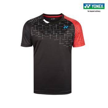 Nowy YONEX ubrania do badmintona dla mężczyzn kobiety odzież koszulka z krótkim rękawem koszula koszulki sportowe 110529BCR tanie i dobre opinie