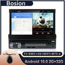 안 드 로이드 10 1din autoradio 자동차 라디오 7 인치 HD GPS DVD 플레이어 탐색 블루투스 USB 무료 후면 카메라 헤드 유닛 자동차 스테레오
