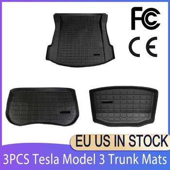 For Tesla Model 3 Trunk Mats Customized Car Rear Trunk Storage Mat Cargo Tray Trunk Waterproof Protective Pads Mat Compatible hot car front trunk storage mat cargo tray trunk waterproof protective pads compatible for subaru xv forester outback 2019