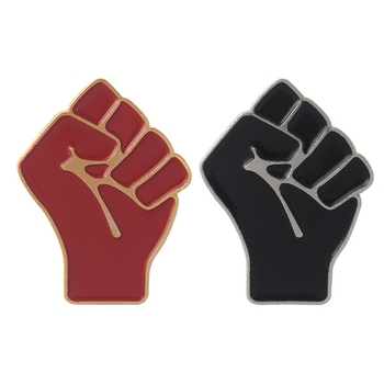 Fist Brooch Creative Fashion Badge Raised Fist Of Solidarity Enamel Pin Cute Clothes Denim Jeans Brooch Communism Jewelry image