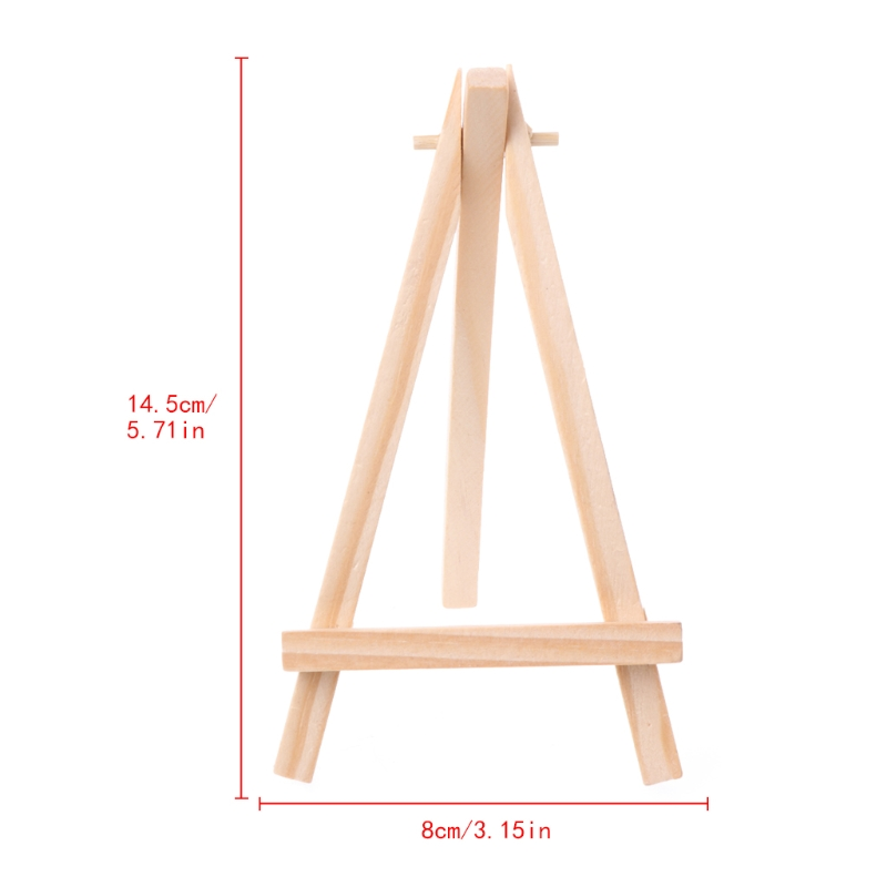 2020 New Mini Wooden Tripod Easel Display Painting Stand Card Canvas Holder Wedding Party