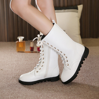 Winter girls boys boots leather children white shoes children waterproof Martin boots children snow boots boys shoes
