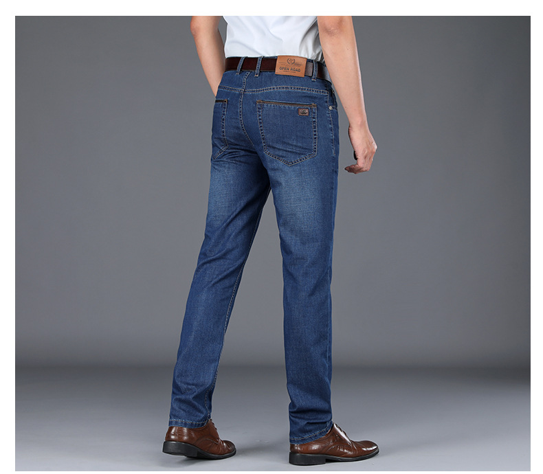 SD393X-Spring And Summer Jeans Men's Loose Straight Tube Men's Pants Business Pants