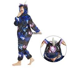 Dorosłych jednorożec piżamy zimowe zwierząt Unicornio piżamy Kigurumi Panda Stitch piżamy Onesie dzieci Anime kostiumy kombinezon tanie tanio YSOYOK Poliester Unisex Pasuje prawda na wymiar weź swój normalny rozmiar Flanelowe S M L XL Cartoon licorne
