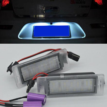Car LED License Plate Error Free Lamp Lights For Chevy Cruze Corvette SS Accessories(China)