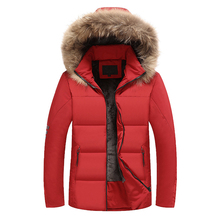 Winter Men Bomber Jacket Thick Thermal Down Cotton Parkas Male Casual Hoodies Jackets Mens Faux Fur Collar Warm Coats