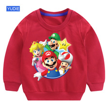 children sweatshirt toddler girl hoodie baby super mario Casual Sweatshirts Clothing  2019 Autumu Fashion Cotton
