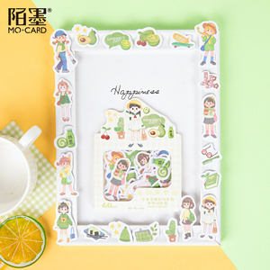 Image 2 - Mo. Karte Tragen tagebuch Papier aufkleber Scrapbooking Dekoration label 1 lot = 16 packs Großhandel