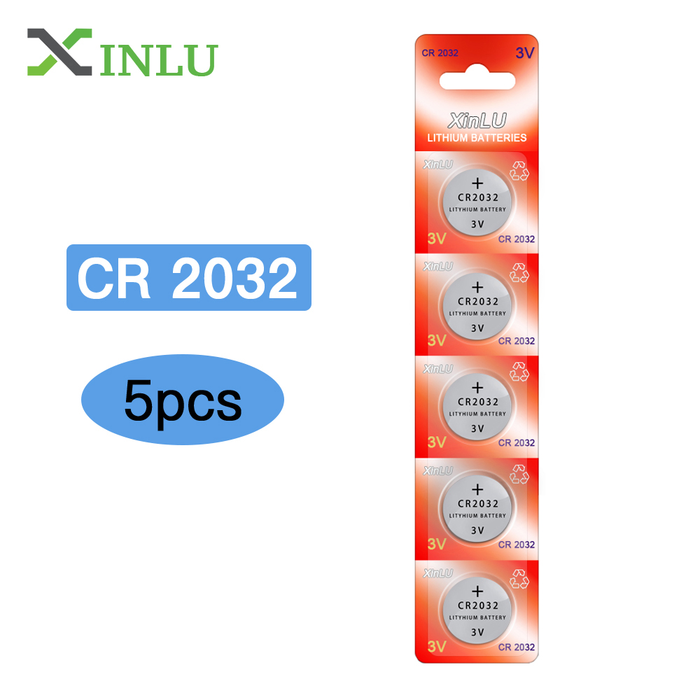 5pcs/lot CR2032 Battery 3V DL2032 ECR2032 CR 2032 2032 CR-2032 Lithium Button Cell Coin Battery 2032 Watch Batteries  for Toys