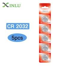 5pcs/lot CR2032 Battery 3V DL2032 ECR2032 CR 2032 2032 CR-2032 Lithium