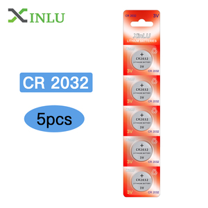 Image 1 - 5pcs/lot CR2032 Battery 3V DL2032 ECR2032 CR 2032 2032 CR 2032 Lithium Button Cell Coin Battery 2032 Watch Batteries  for Toys
