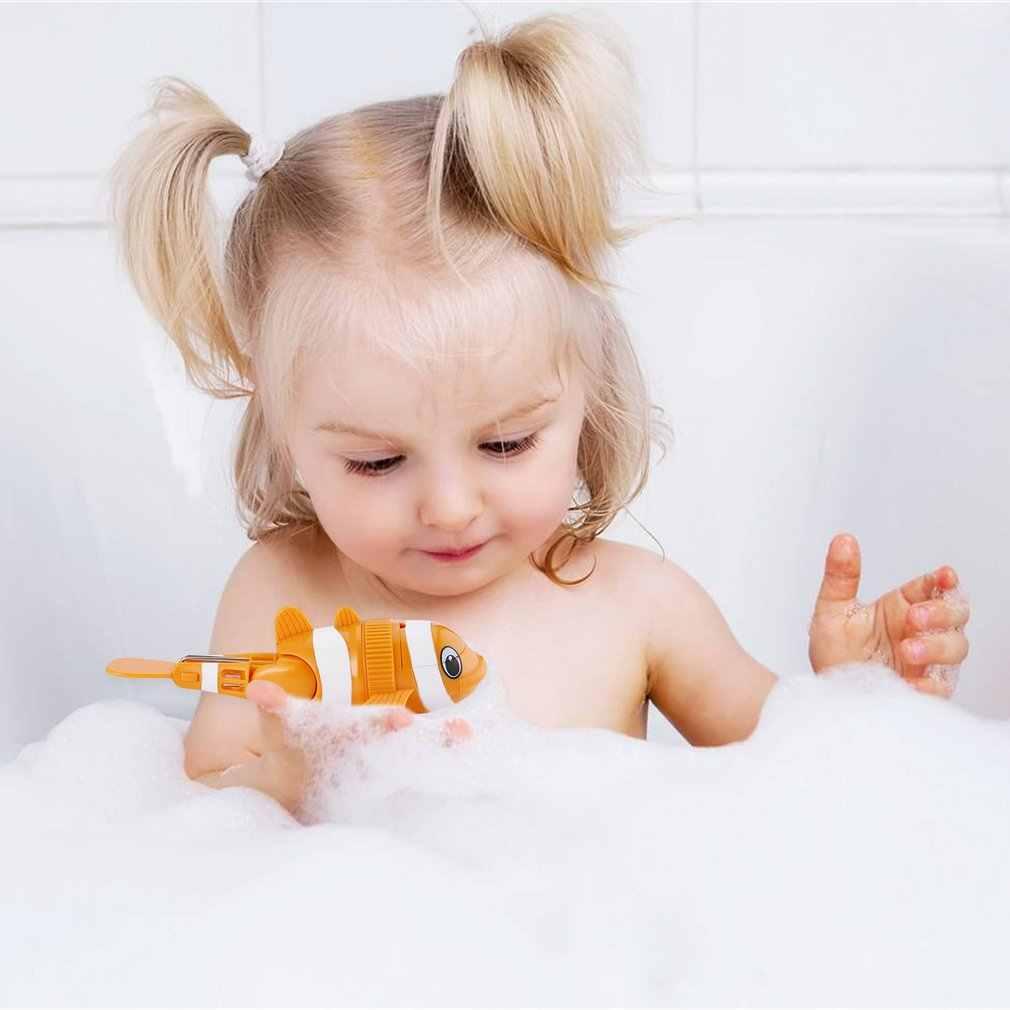 Divertido lindo encantador Flexible niños juguete de baño naranja buceo pez natación con ángulo de cola ajustable
