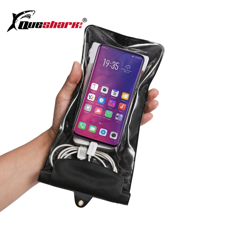 Special Waterproof Cellphone Bag Sealed Super Large Size Transparent Waterproof Phone Swimming Bag with Headphone Cable Pouch