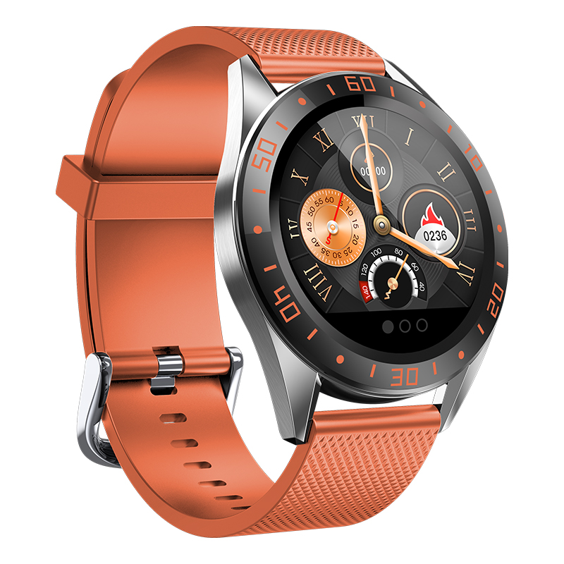 GW15右-橙 Montre intelligente IP68, montre de Fitness