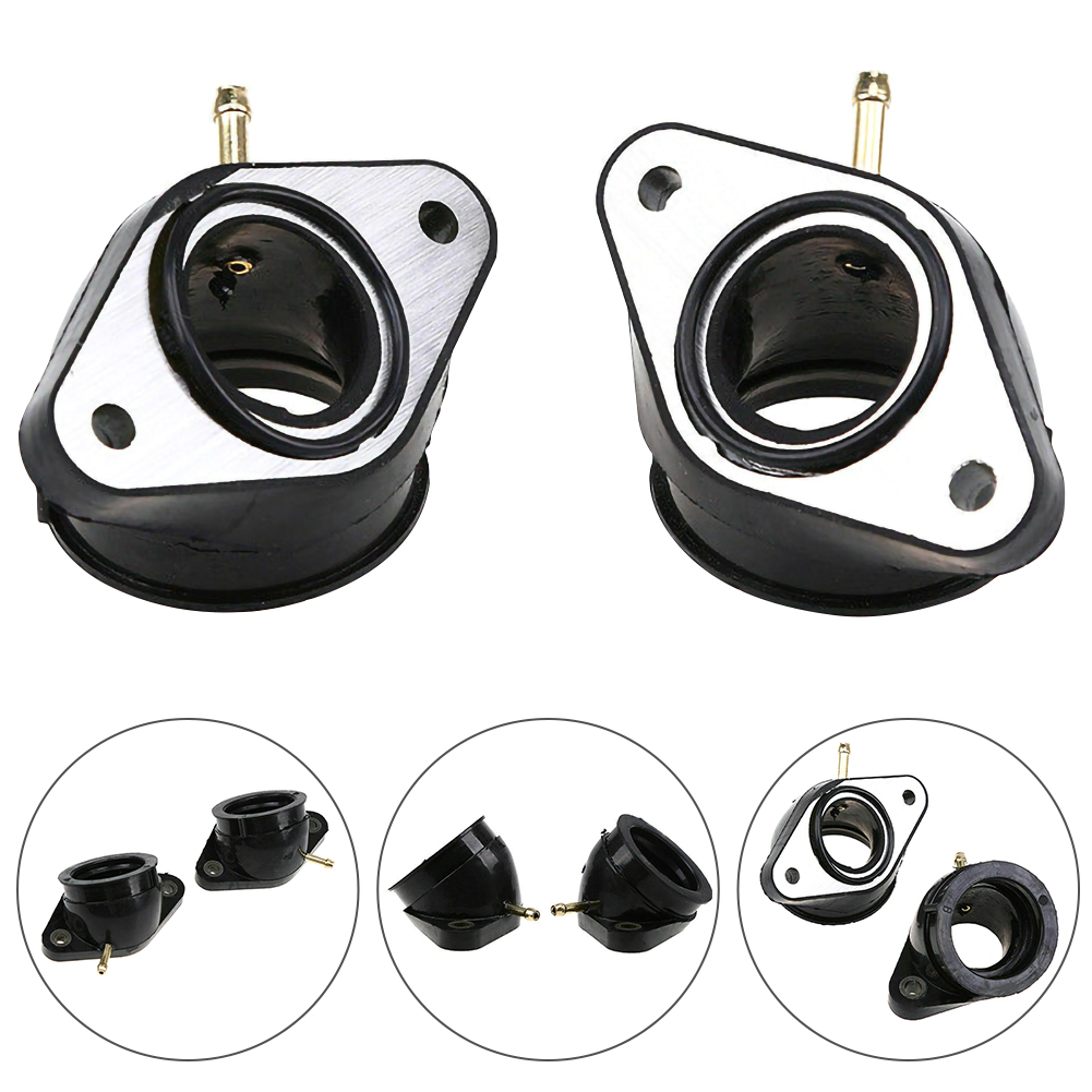 Motorcycle Carburetor Intake Manifold Boot Part Set Kit For <font><b>Yamaha</b></font> <font><b>VIRAGO</b></font> <font><b>XV400</b></font> 500 535 Carburetor Intake Interface Carb Adapter image