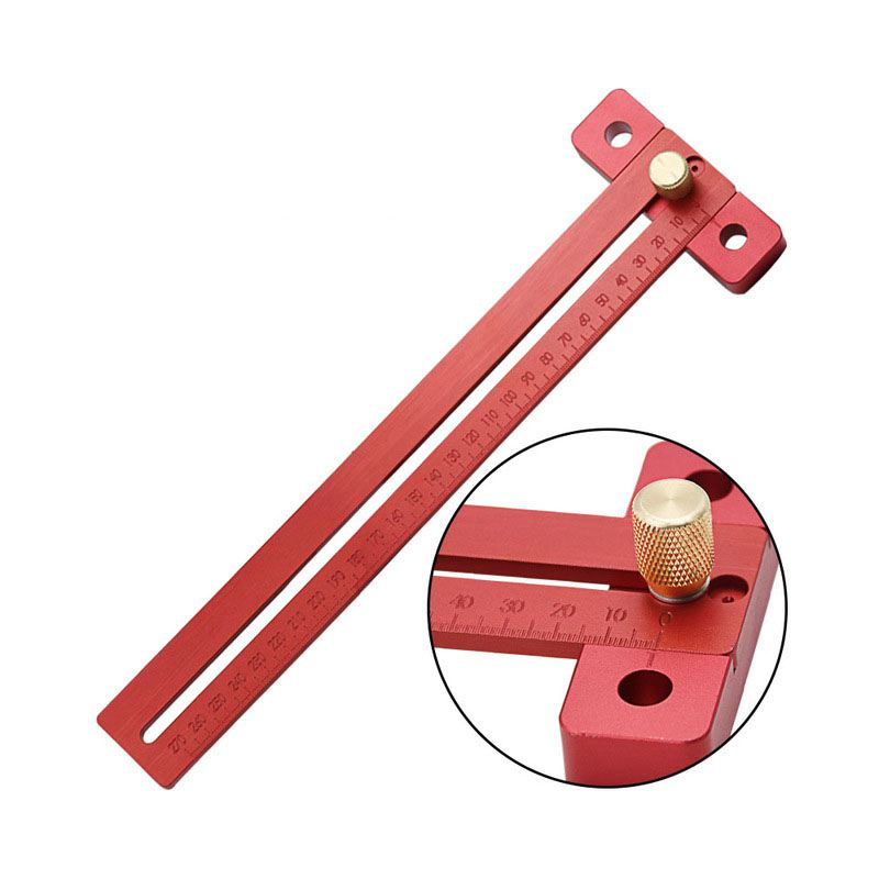 Aluminum Alloy Crossed Ruler Woodworking T Type Scribe Woodworking Ruler