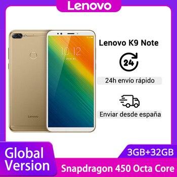 Купить Глобальная версия Lenovo K9 Note 3 ГБ 32 ГБ Восьмиядерный Snapdragon 6 дюймов смартфон Face ID Android 8,1 16 МП камера мобильный телефон