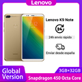 Global Version Lenovo K9 Note 3GB 32GB Snapdragon Octa Core 6 inch Smartphone Face ID Android 8.1 16MP Camera Mobile Phone