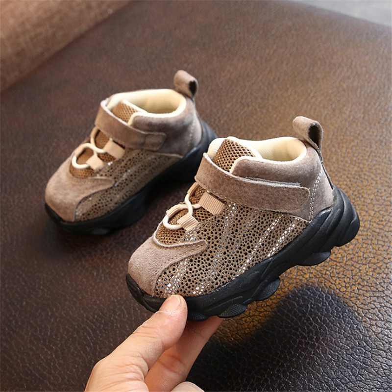DIMI 2019 Spring/Autumn Infant Shoes Girl Boys Genuine Leather Toddler Shoes Comfortable Soft 0-3 Year Baby Sneakers