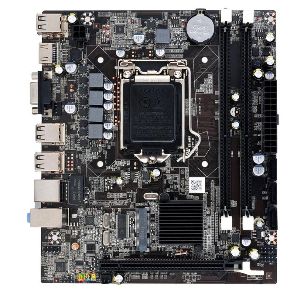 H55 ordinateur de bureau accessoires Double USB remplacement carte mère CPU Interface carte mère LGA1156 DDR3 système de mémoire