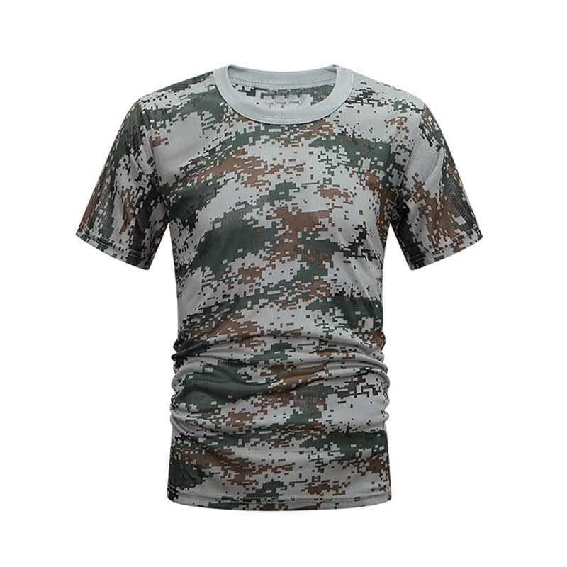 Camouflage Sneldrogende Ademend T-Shirt Panty Leger Tactische T-shirt Mens Compressie Shirt Fitness Zomer Body bulding