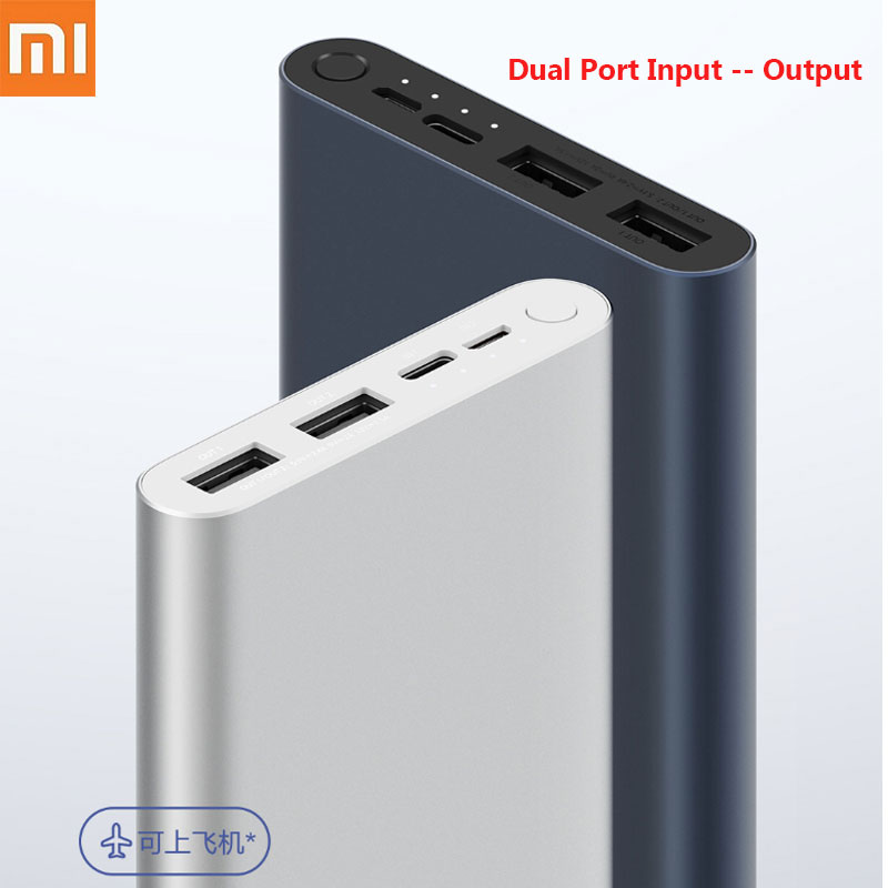<font><b>Xiaomi</b></font> Mi <font><b>Power</b></font> <font><b>Bank</b></font> <font><b>3</b></font> <font><b>10000mAh</b></font> Fast charge version Micro-USB USB-C Two-way 18W Battery Travel Powerbank for iPhone XS PLM13ZM image