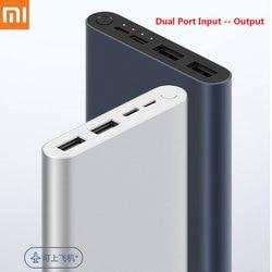 Xiaomi Mi Power Bank 3 10000mAh Fast charge version Micro-USB USB-C Two-way 18W Battery Travel Powerbank for iPhone XS PLM13ZM