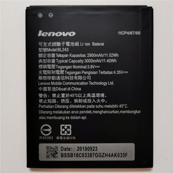 2019 nowy BL 243 BL243 baterii dla lenovo Lemon K3 uwaga K50-T5 A7000 A5500 A5600 A7600 2900mAh telefon komórkowy Backup Bateria tanie i dobre opinie VBNM 2801 mAh-3500 mAh Oryginalny