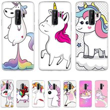 Mobile Phone Case for Samsung Galaxy J1 J2 J7 J5 J6 J3 Prime Hard Cover Protection Cute set of unicorns(China)