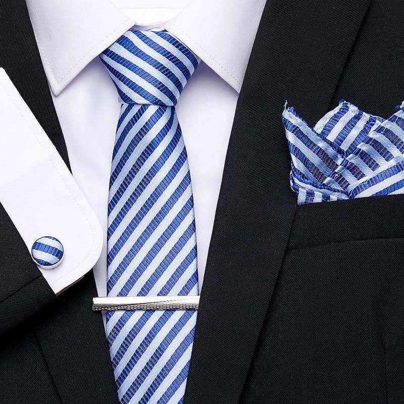 Luxury Woven Silk Necktie Mens Tie Cufflinks And Handkerchief Gifts* 3 pcs Set