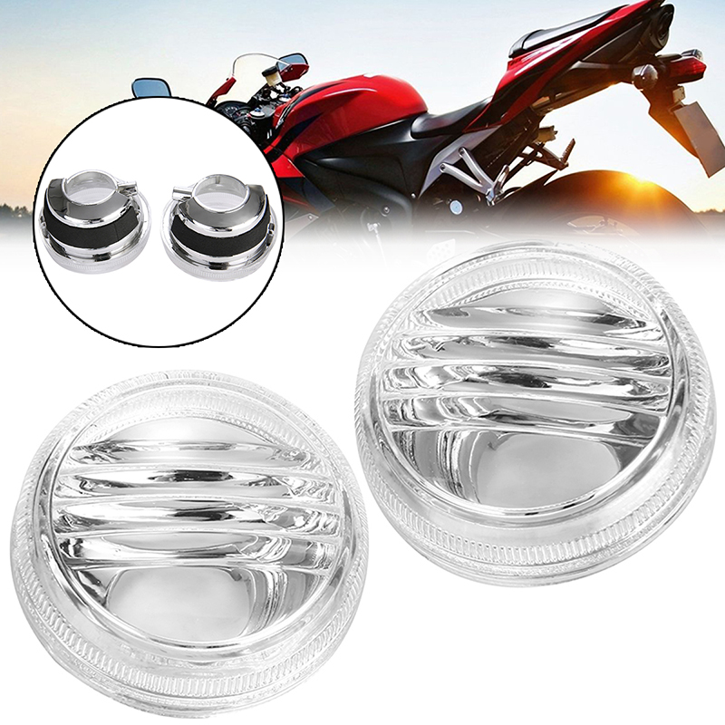 1Pair Motorcycle Left And Right Light Clear Turn Signal Lens For Suzuki Boulevard VZR1800 VL800 C50 C109R Intruder Marauder