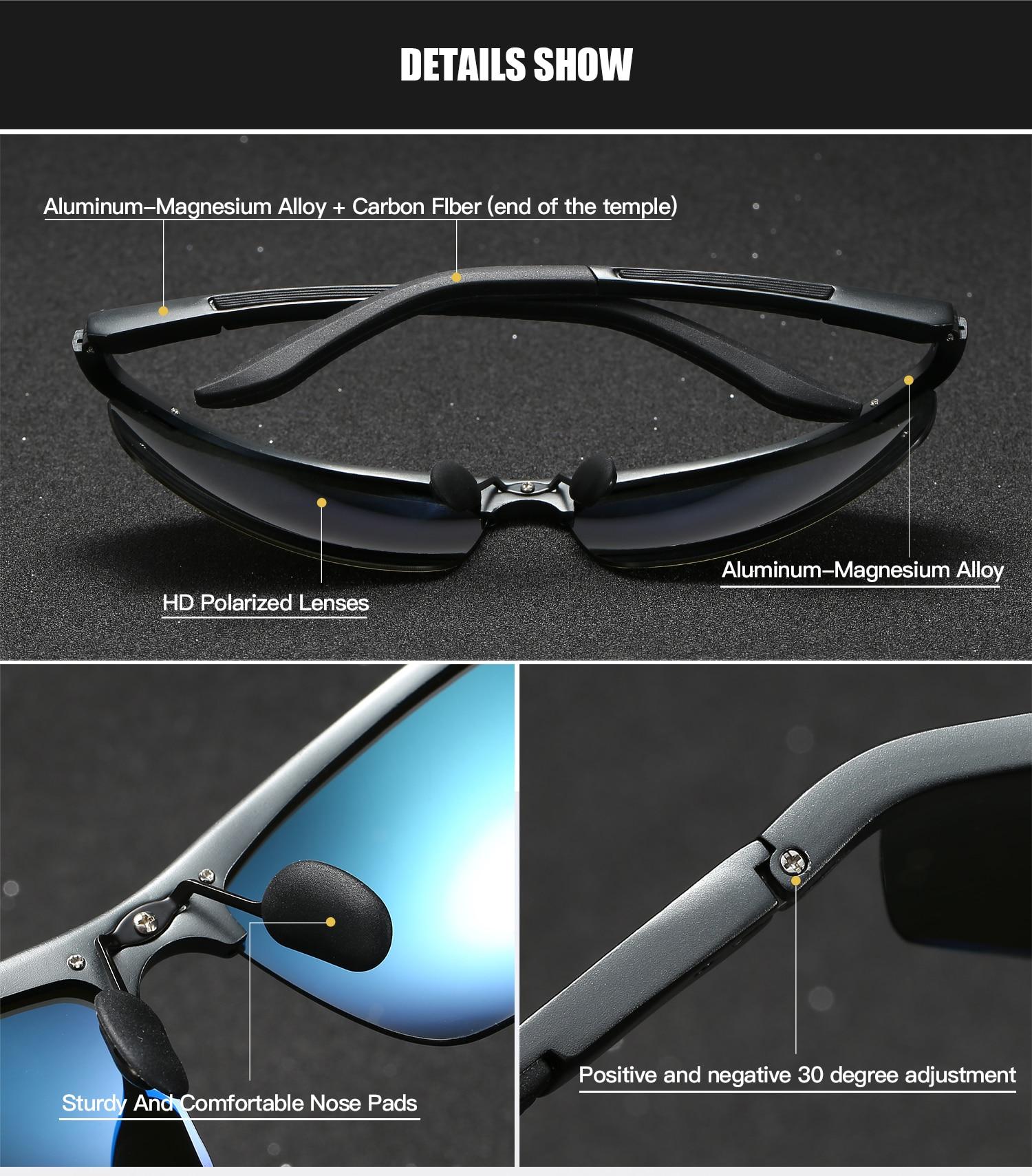 Image 4 - RoyalHot Men Women Polarized Aluminum Magnesium Frame Sunglasses  Driving Sun Glasses Shades Oculos masculino Male 900p60Mens Sunglasses   -