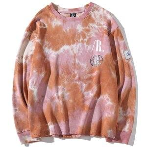 Image 4 - Casual Loose Tie Dye O Neck Hoodies Sweatshirts Mens Hip Hop Hipster Punk Rock Streetwear Hoodie Fashion Jumper print Tops