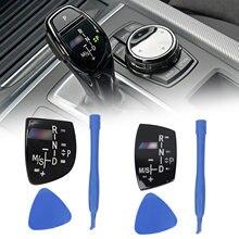 Botão de mudança do carro auto painel botão engrenagem capa emblema m desempenho etiqueta para bmw x1 x3 x5 x6 m3 m5 f01 f10 f30 f35 f15 f16 f18