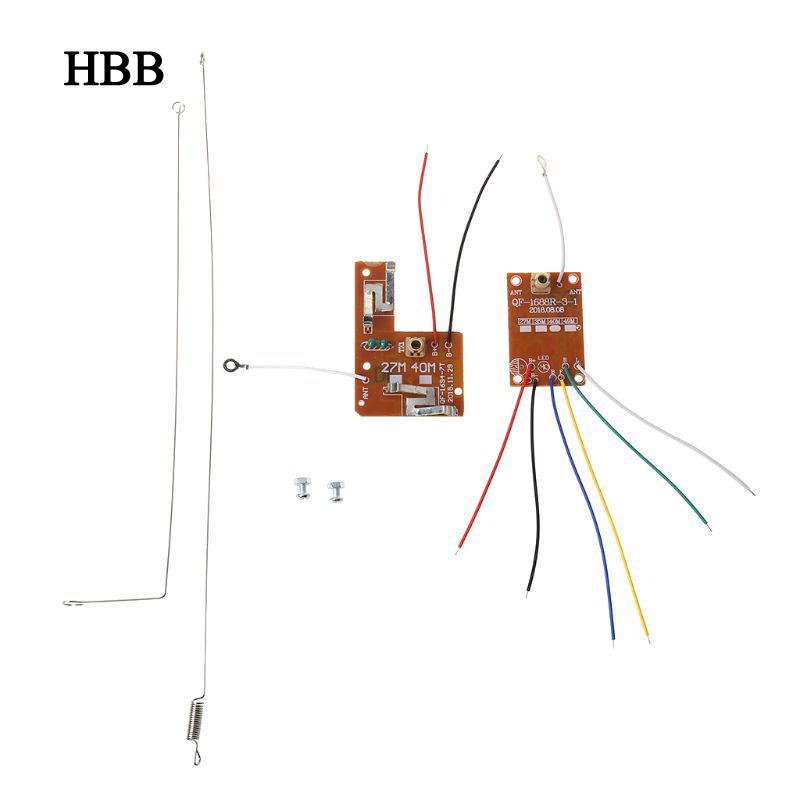 4CH RC Remote Control 27MHz Circuit PCB Transmitter And Receiver Board With Antenna Radio System For Car Truck Toy