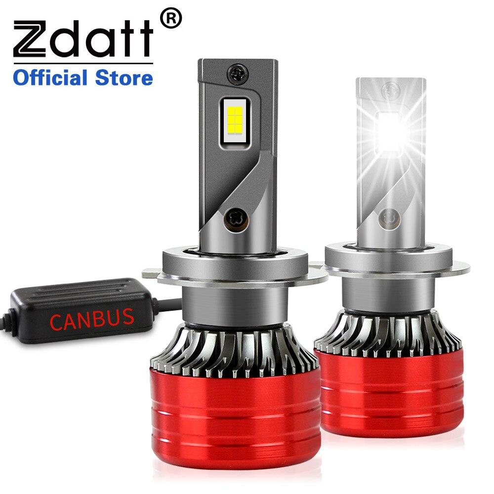 Zdatt H7 Led Canbus Lamp 20000LM 12V 6000K Auto Led Licht H1 H8 H11 9005 HB3 9006 HB4 H4 h7led Koplamp Turbo Csp Auto Lamp