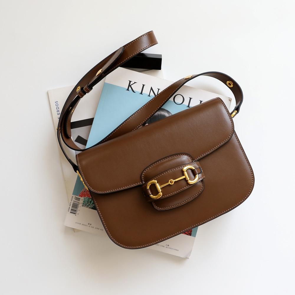 Genuine Leather Handbags Women Bags Designer Casual Crossbody Messenger Bag Ladies Quality Hand Bags For 2020 Bolsas Feminina on AliExpress