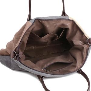 Image 4 - PILER Casual Big Frauen Tasche Handtaschen Leinwand Schulter Taschen Hobo Große Crossbody tasche Handtasche Einkaufstaschen für Frauen Umhängetasche