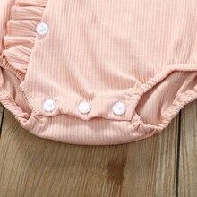 Baby Girl Boys Rompers Long Sleeve Ruffles Jumpsuit