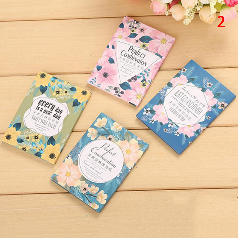 50sheets/pack Facial Oil Blotting Sheets Paper Cleansing Face Oil Control Absorbent Paper Beauty Makeup Tools