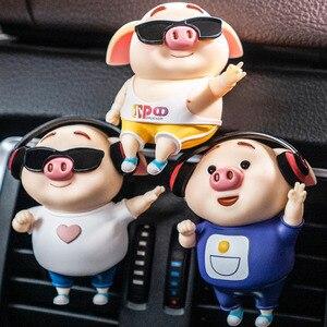 Odświeżacz powietrza do samochodu kreatywny świnia samochód wylot klimatyzacji perfumy zapach klip dekoracji aromaterapia samochodowa dyfuzor ozdoby