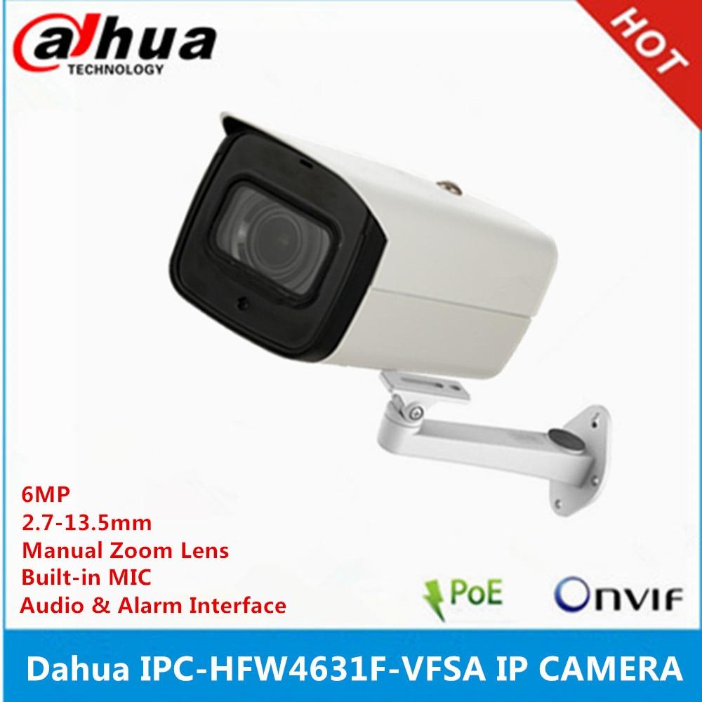 Dahua IPC-HFW4631F-VFAS 6MP IP Camera POE 2.7-13.5mm 80m IR Bullet CCTV SD Slot