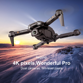 LS-XT6 Folding Quadcopter RTF Dual Camera 4K HD RC Mini Drone Altitude Hold WiFi FPV Remot Control Helicopter Toy Free Shipping 4