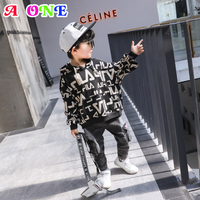 boys sweatshirts fashion streetwear style children hoodies casual letter outdoor active toddler hoodie 2~8 years