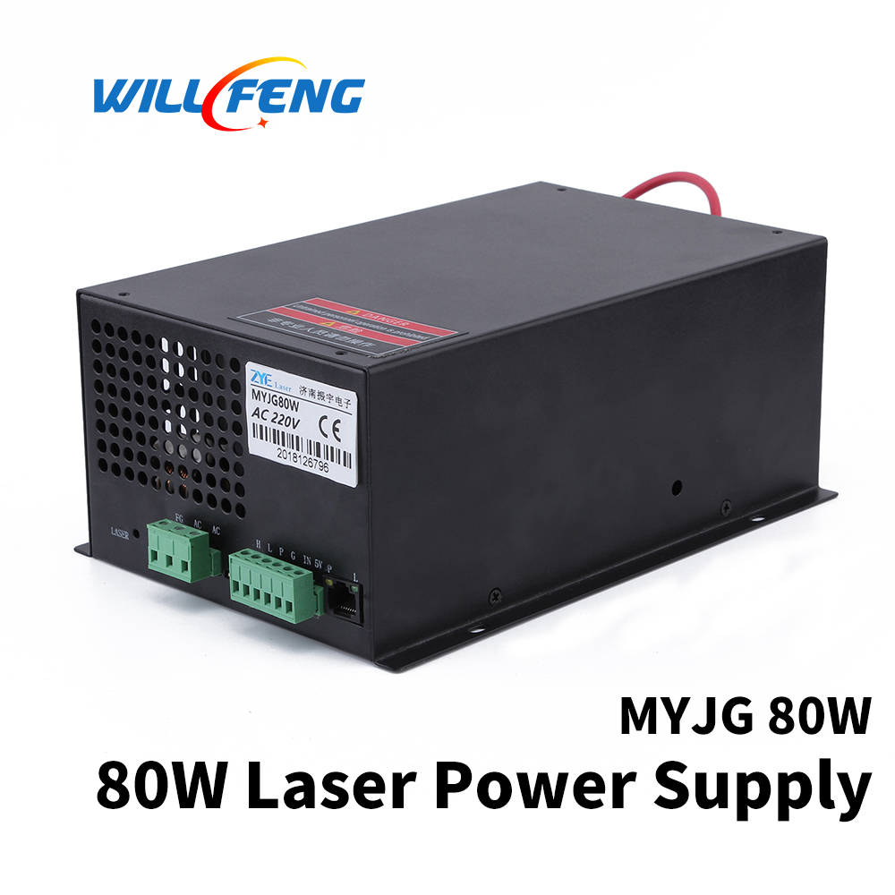 Will Feng MYJG 80w Co2 Laser Power Supply For Co2 Cutter Engraving Machine 80w Co2 Laser