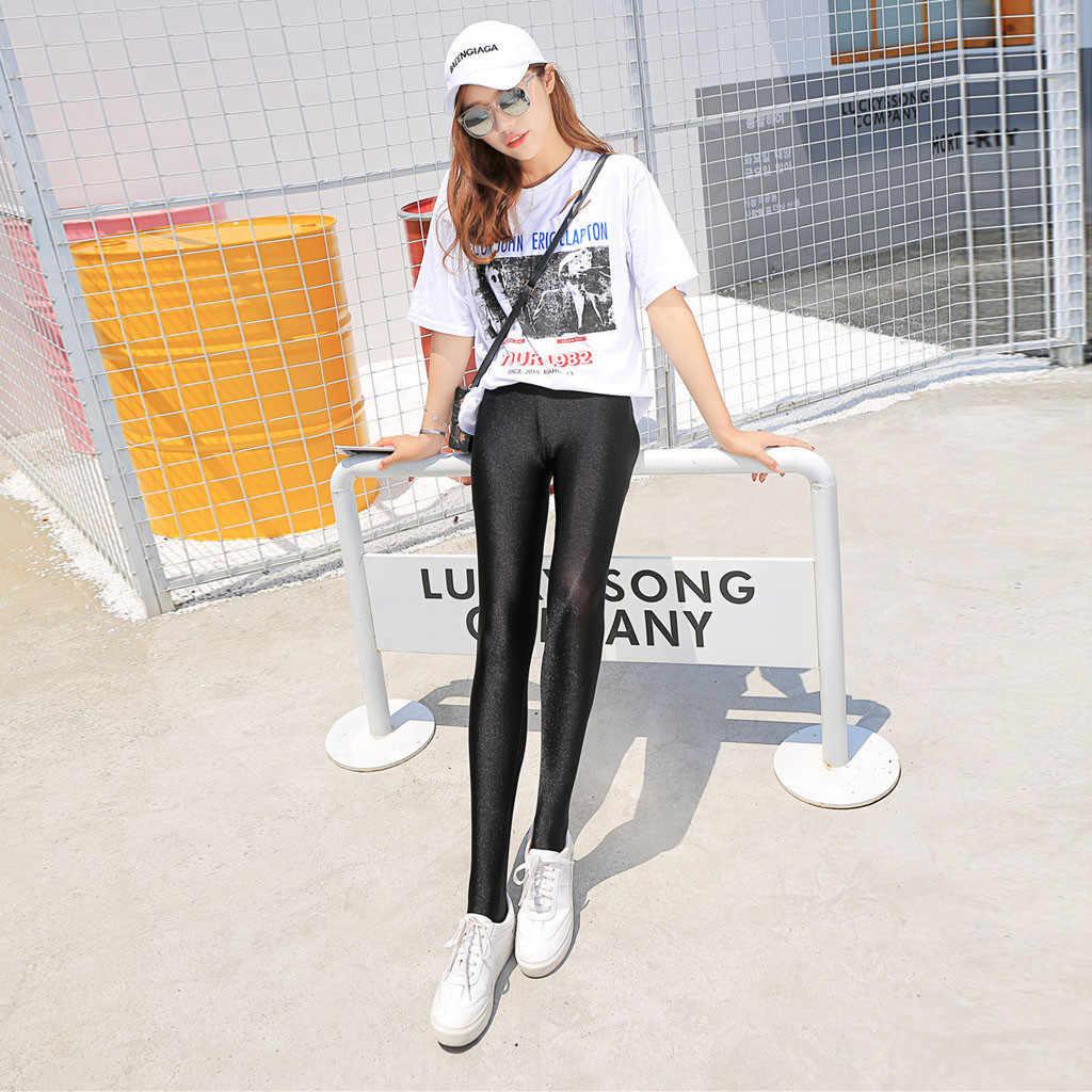 Moda feminina casual tamanho grande calças outono e inverno estiramento magro leggings plana calças de pé alta qualidade 2.24